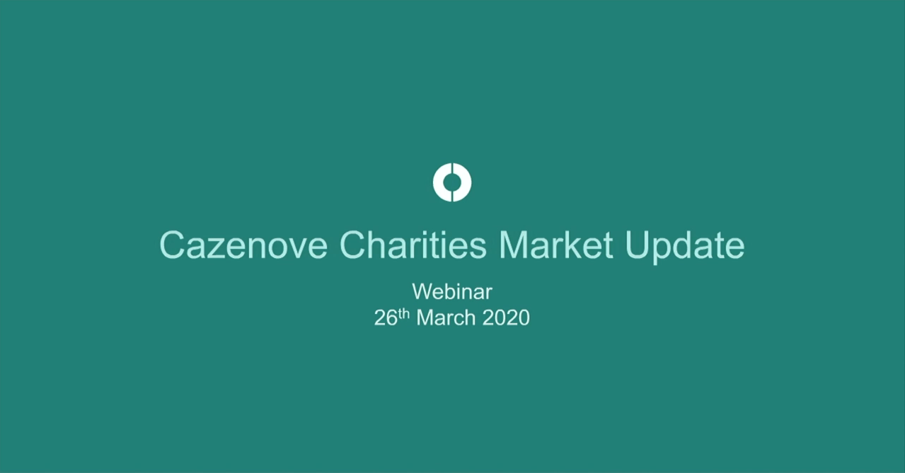 Charity market update webinar with Ahmet Feridun