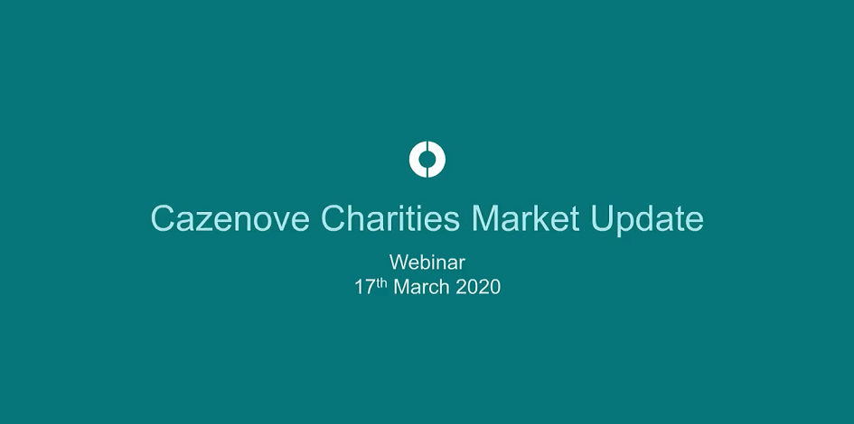 Cazenove Charities market update webinar